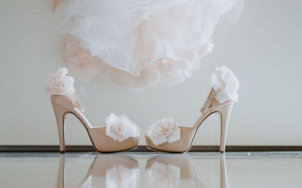scarpe sposa cipria