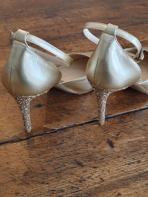 scarpa sposa glitter