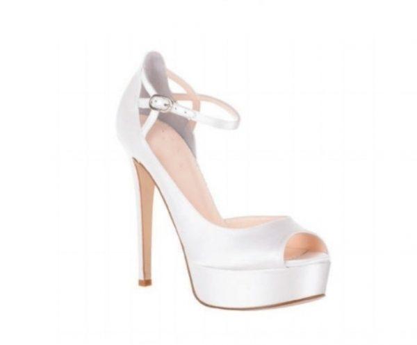scarpa sposa con plateau